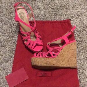 Valentino Wedge Pink US 8/7.5